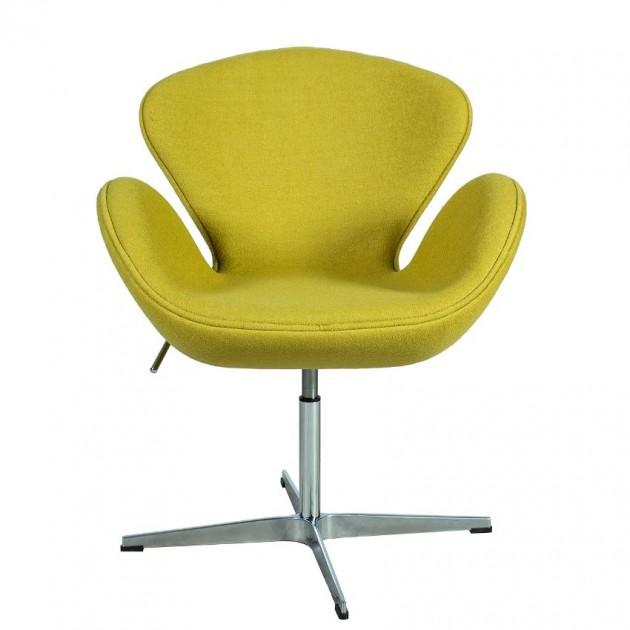 На фото: Крісло Swan Mustard (39022), М'які крісла Home4You, каталог, ціна
