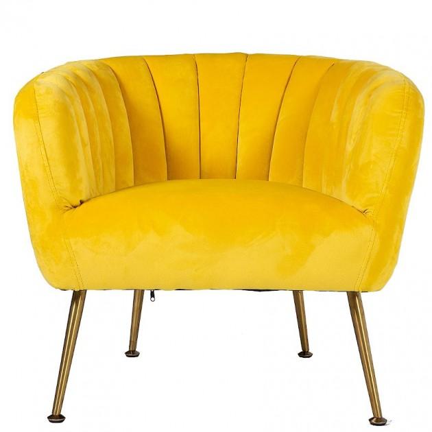 На фото: М'яке крісло Tucker Yellow (20152), М'які крісла Home4You, каталог, ціна