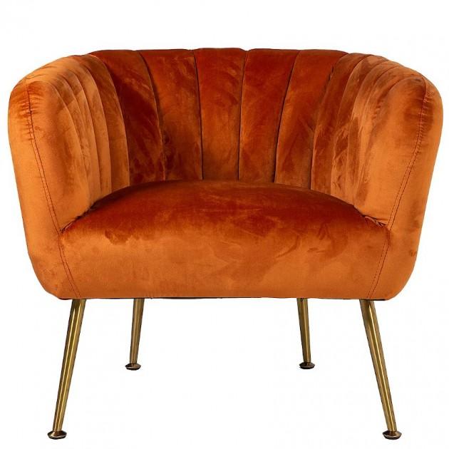 На фото: М'яке крісло Tucker Ochre (20155), М'які крісла Home4You, каталог, ціна
