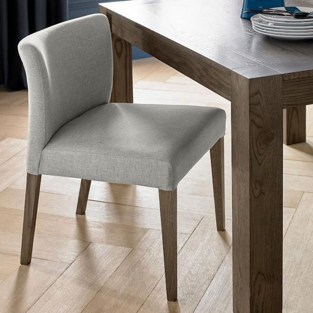 На фото: Стілець Turin Light Grey (11321), М'які стільці Home4You, каталог, ціна