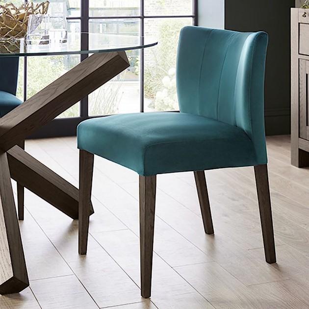 На фото: Стілець Turin Sea Blue (11324), М'які стільці Home4You, каталог, ціна
