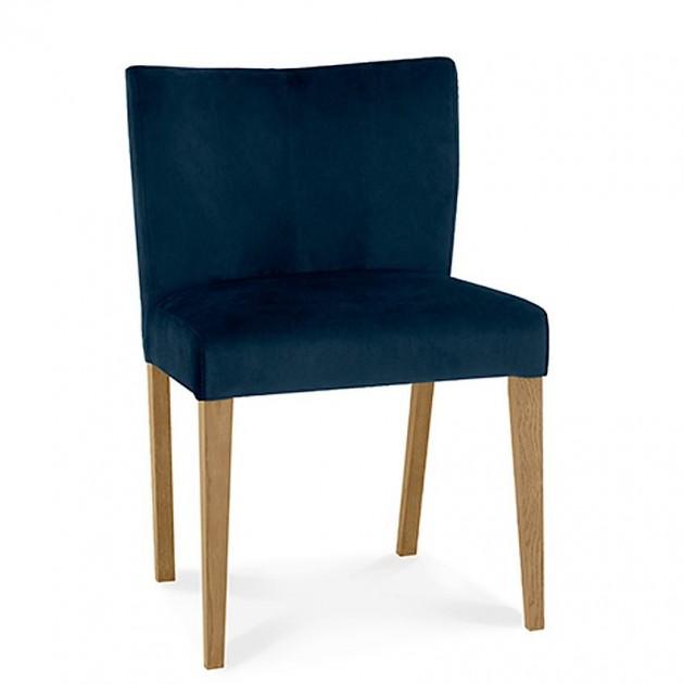 На фото: Стілець Turin Deep Blue (11326), М'які стільці Home4You, каталог, ціна