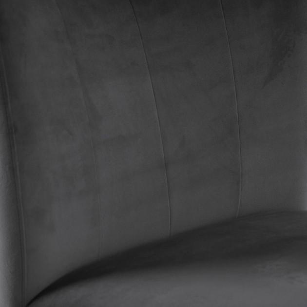 На фото: Стілець Turin Dark Grey (11327), М'які стільці Home4You, каталог, ціна