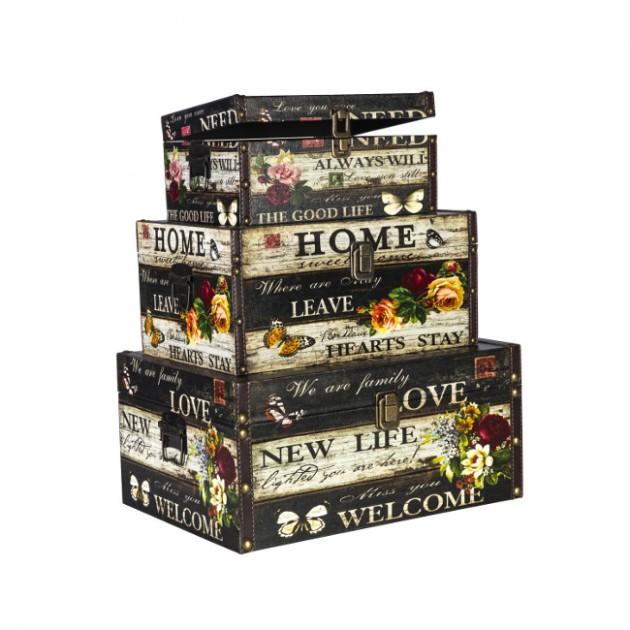 На фото: Набір коробок Ventura (7407), Шкатулки і коробки Home4You, каталог, ціна