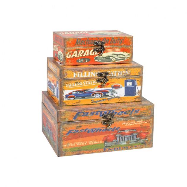 На фото: Набір коробок Ventura (7524), Шкатулки і коробки Home4You, каталог, ціна