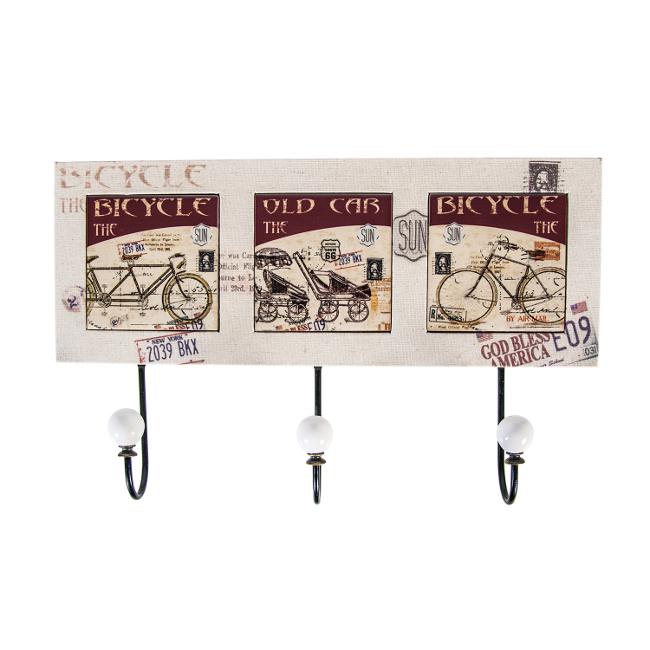 На фото: Настінна вішалка Bicycle (73806), Вішалки для одягу Home4You, каталог, ціна