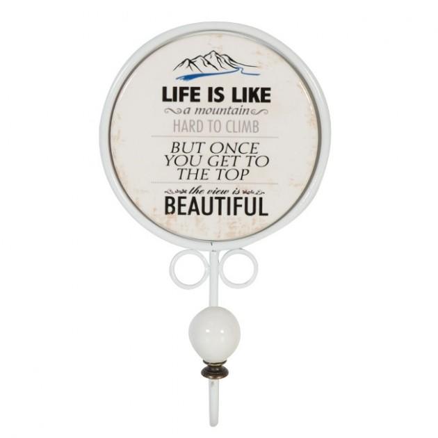 На фото: Настінна вішалка Lifestyle (76064), Вішалки для одягу Home4You, каталог, ціна