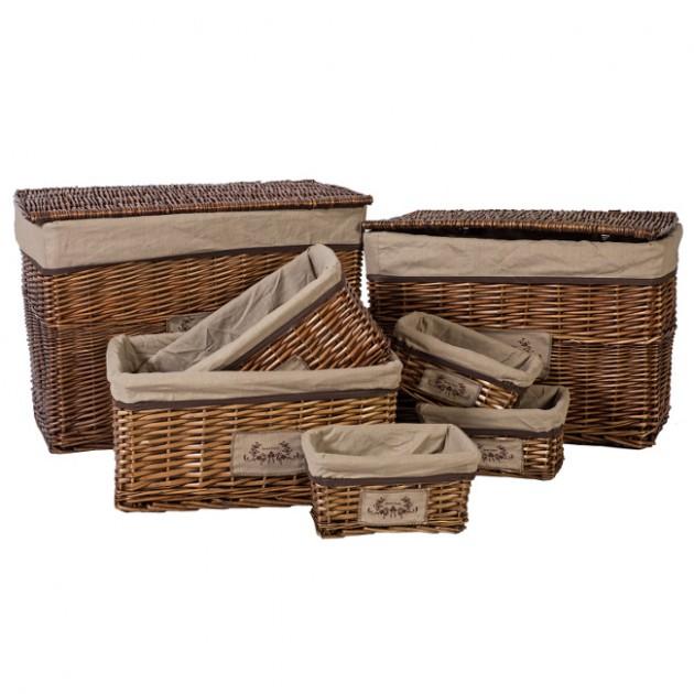 На фото: Плетений кошик Willi (76221), Плетені кошики Home4You, каталог, ціна