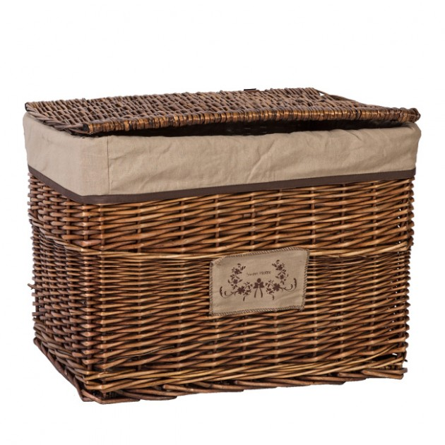 На фото: Плетений кошик Willi (76222), Плетені кошики Home4You, каталог, ціна