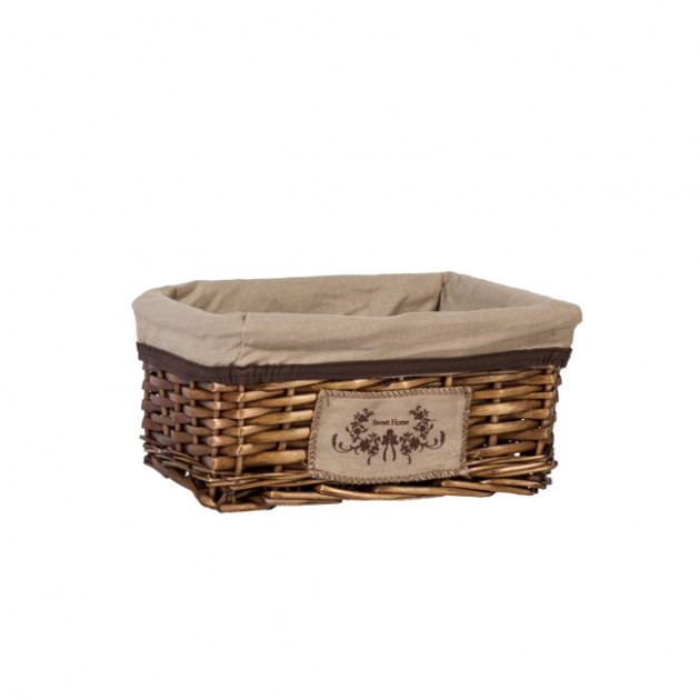 На фото: Плетений кошик Willi (76225), Плетені кошики Home4You, каталог, ціна
