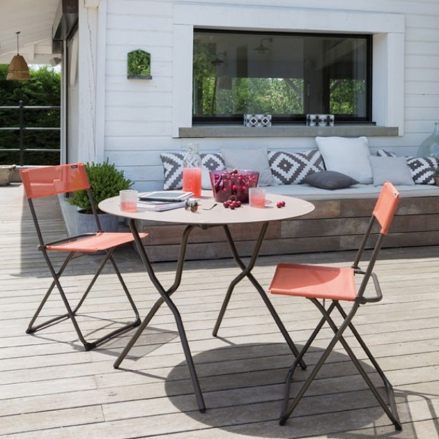 На фото: Стілець Balcony (26007226), Металеві стільці Lafuma, каталог, ціна