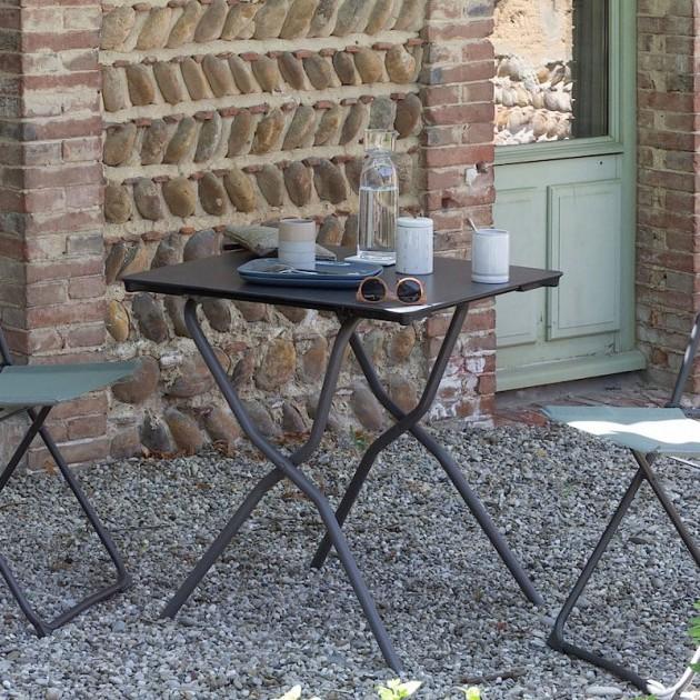 На фото: Стілець Balcony Moss (lfm2600-8557), Металеві стільці Lafuma, каталог, ціна