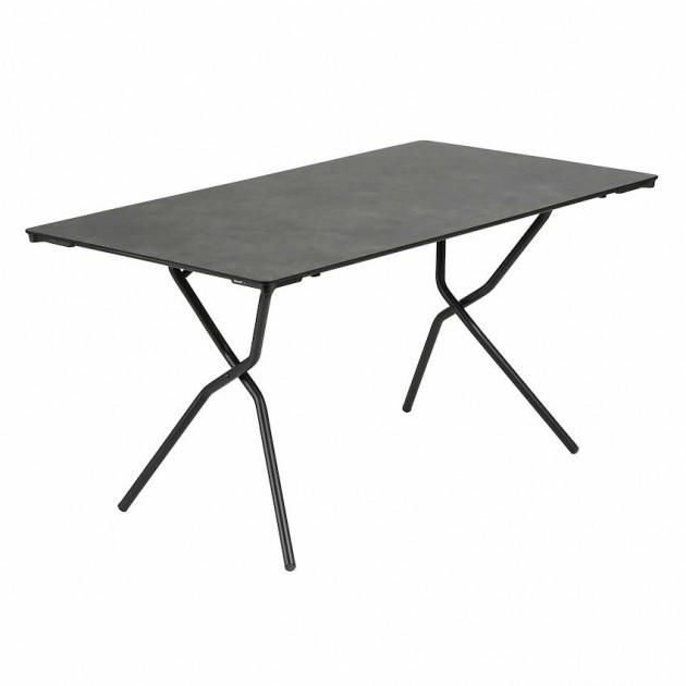 На фото: Прямокутний стіл Anytime Mineral 139x79 Black (LFM2716-9299), Складані столи Lafuma, каталог, ціна