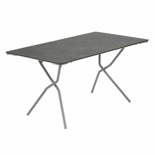 На фото: Прямокутний стіл Anytime Mineral 139x79 Titanium (LFM2716-9298), Складані столи Lafuma, каталог, ціна