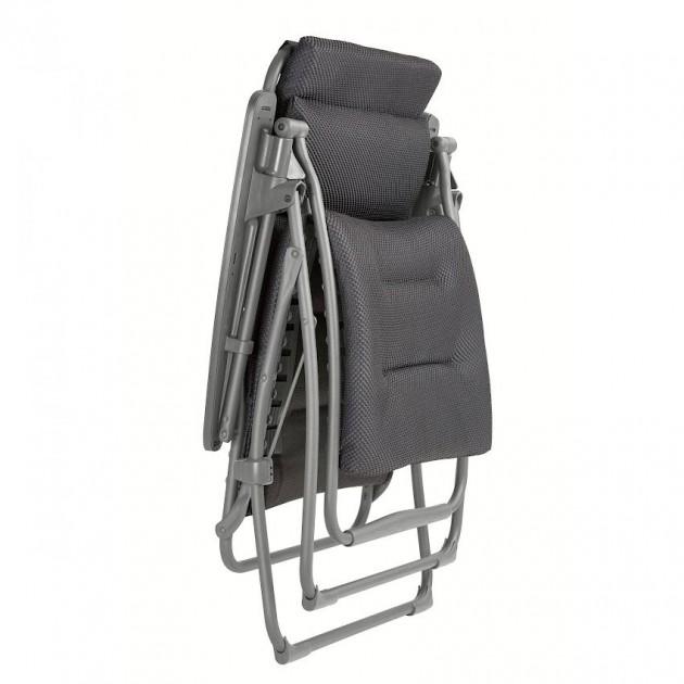 На фото: Крісло-шезлонг Futura BeComfort® Dark Grey (lfm3130-8902), Шезлонги з текстилену Lafuma, каталог, ціна