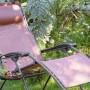 На фото: Крісло-шезлонг RSXA Clip Terracotta (LFM2035-8899), Шезлонги з текстилену Lafuma, каталог, ціна
