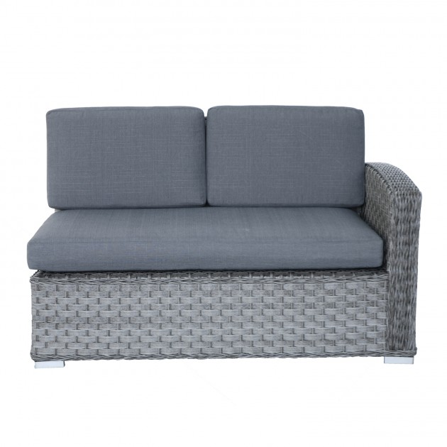 На фото: Двомісний диванний модуль Geneva Grey (11903), Модульні елементи Garden4You, каталог, ціна