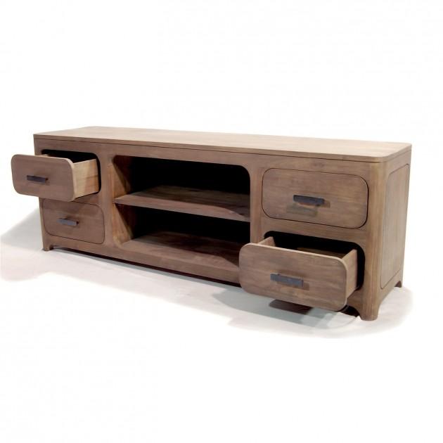 На фото: Тумба из тика Loa (100503), Тумби під телевізор Вілла Ванілла, каталог, ціна