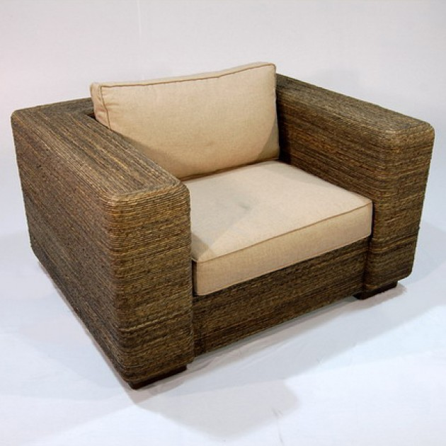 На фото: Крісло з абаки Alexis (200400), Крісла з ротангу Вілла Ванілла, каталог, ціна