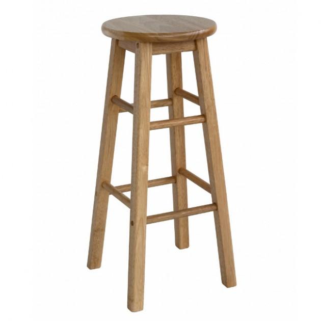 На фото: Барний табурет Pub (06211), Дерев'яні стільці Home4You, каталог, ціна