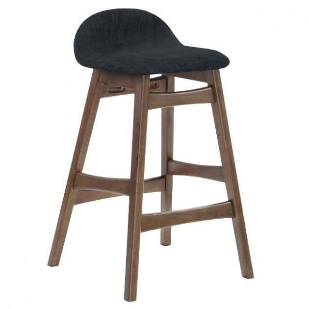 На фото: Барний стілець Bloom Dark Grey (20913), Барні стільці і столи Home4You, каталог, ціна