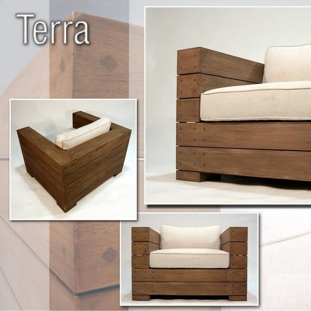На фото: Крісло з тикового дерева Terra (100106), Дивани, крісла, пуфи Вілла Ванілла, каталог, ціна