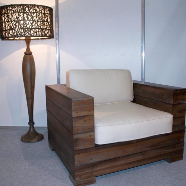 На фото: Кресло из тика Terra (100106), Дивани, крісла, пуфи Вілла Ванілла, каталог, ціна