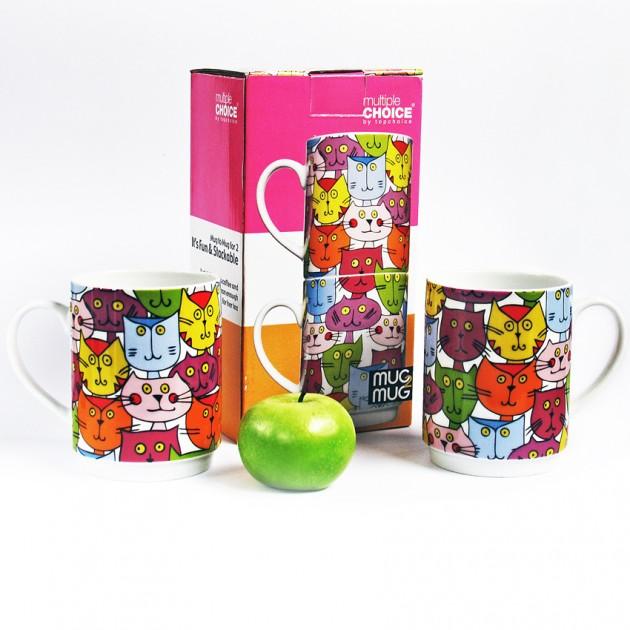 На фото: Набір чашок Котовасія (710000), Чашки та кружки TopChoice, каталог, ціна
