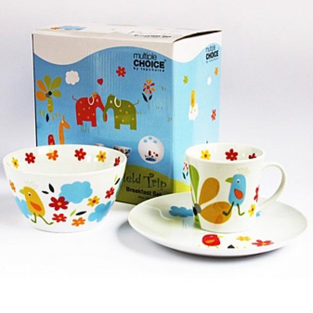 На фото: Набір посуду Веселе Курча (710005), Набори посуду для дітей TopChoice, каталог, ціна