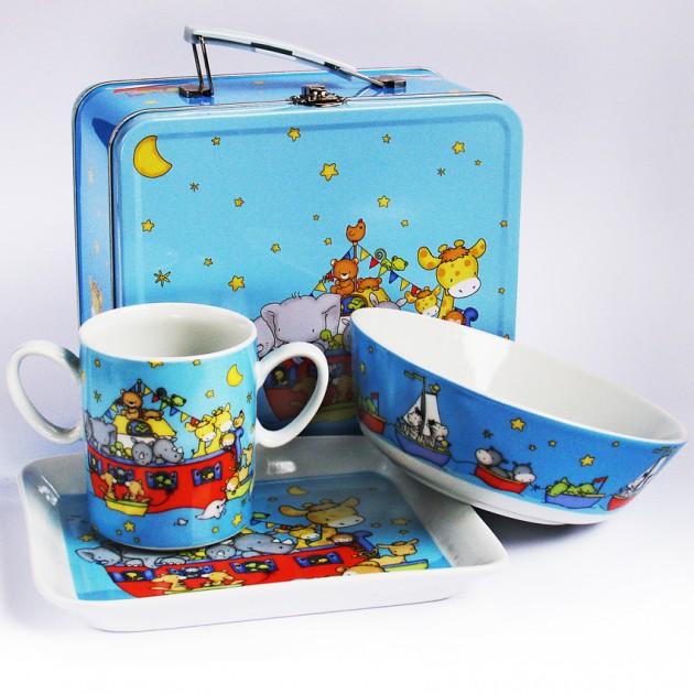 На фото: Набор посуду Веселий Кораблик (710006), Набори посуду для дітей TopChoice, каталог, ціна