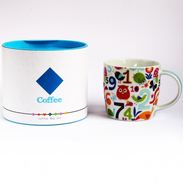 На фото: Порцелянова чашка Цифри (710015), Чашки та кружки TopChoice, каталог, ціна
