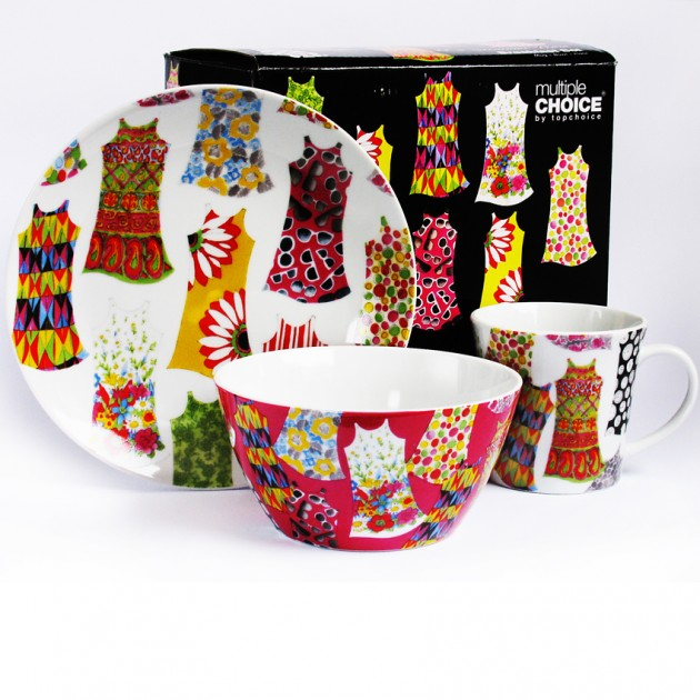 На фото: Набір посуду Весела Мода (710019), Набори посуду для дітей TopChoice, каталог, ціна