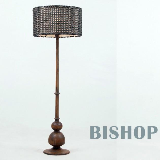 На фото: Торшер тиковий Bishop (300307), Декоративні світильники Вілла Ванілла, каталог, ціна