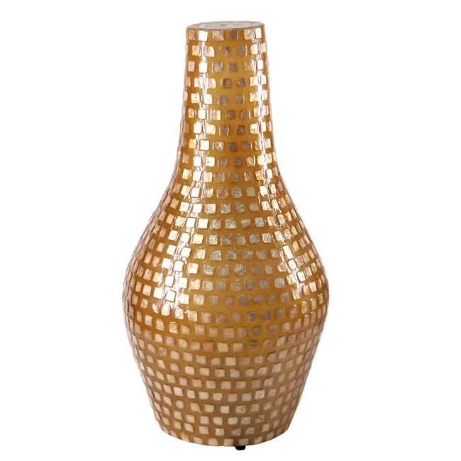 На фото: Настільна лампа Adis Золота Мушля (400001), Декоративні світильники Вілла Ванілла, каталог, ціна