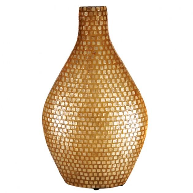 На фото: Настільна лампа Dayu Золота Мушля (400016), Декоративні світильники Вілла Ванілла, каталог, ціна