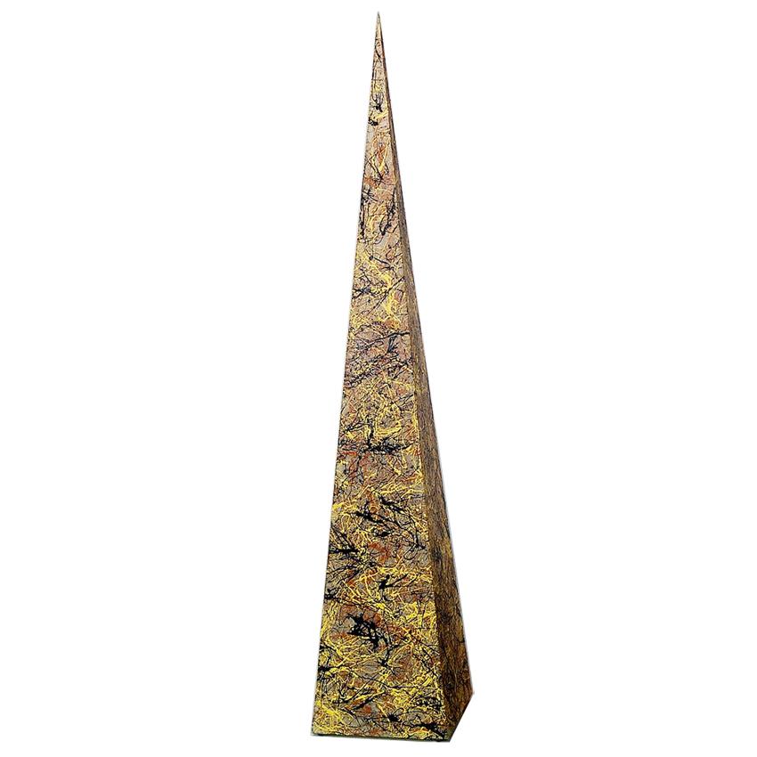 На фото: Напольна лампа Piramida L Бризки осені (400062), Декоративні світильники Вілла Ванілла, каталог, ціна