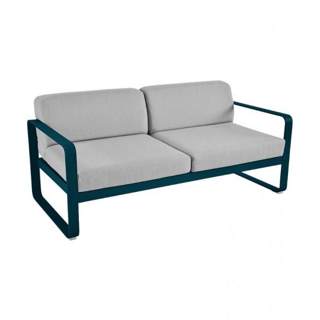 На фото: Диван Bellevie Acapulco Blue (84452179), Двомісний диван Bellevie з подушками Flannel Grey Fermob, каталог, ціна
