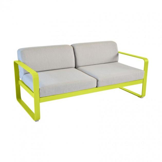 На фото: Диван Bellevie Verbena (84452979), Двомісний диван Bellevie з подушками Flannel Grey Fermob, каталог, ціна