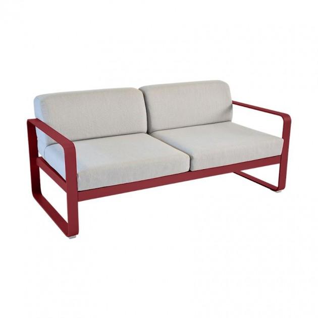 На фото: Диван Bellevie Chili (84454379), Двомісний диван Bellevie з подушками Flannel Grey Fermob, каталог, ціна