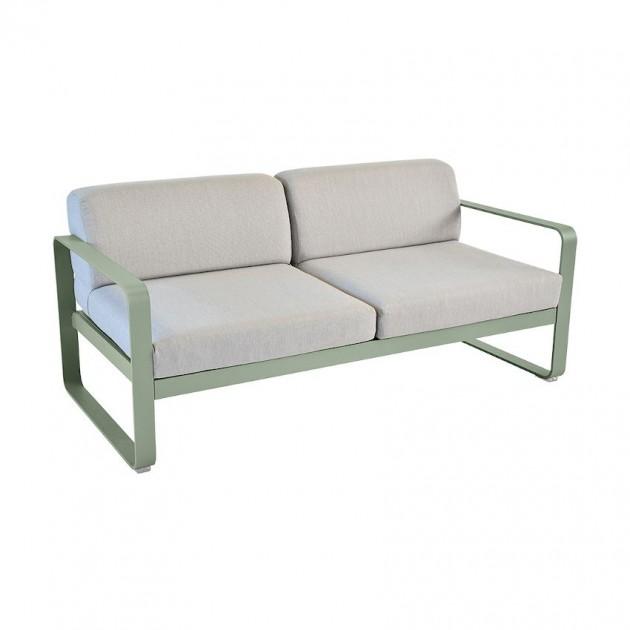 На фото: Диван Bellevie Cactus (84458279), Двомісний диван Bellevie з подушками Flannel Grey Fermob, каталог, ціна