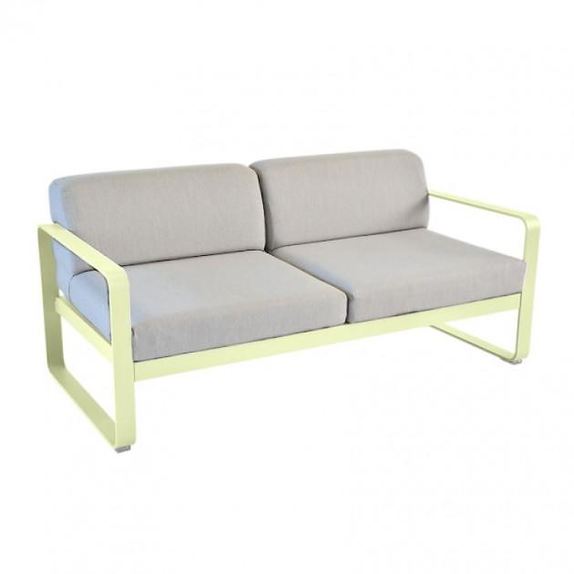 На фото: Диван Bellevie Frosted Lemon (8445a679), Двомісний диван Bellevie з подушками Flannel Grey Fermob, каталог, ціна