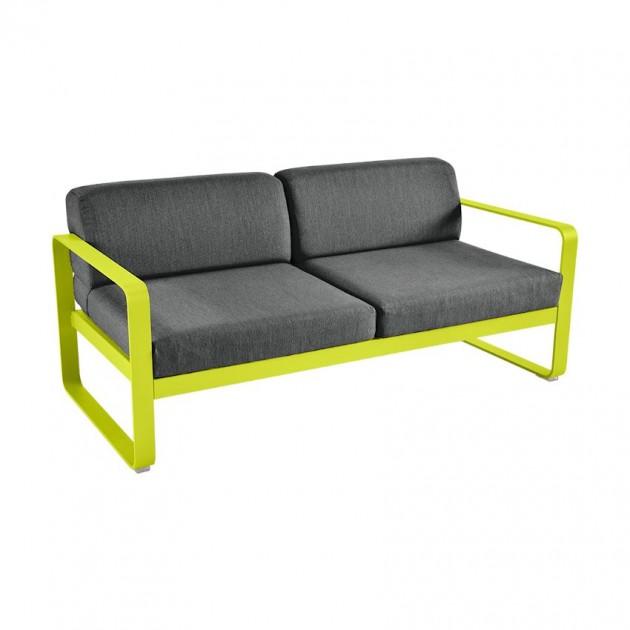 На фото: Диван Bellevie Verbena (844529a3), Двомісний диван Bellevie з подушками Graphite Grey Fermob, каталог, ціна