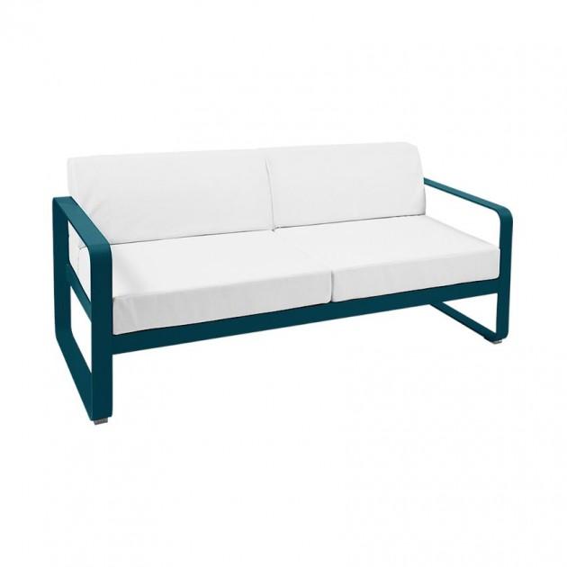На фото: Диван Bellevie Acapulco Blue (84452181), Двомісний диван Bellevie з подушками Off-White Fermob, каталог, ціна