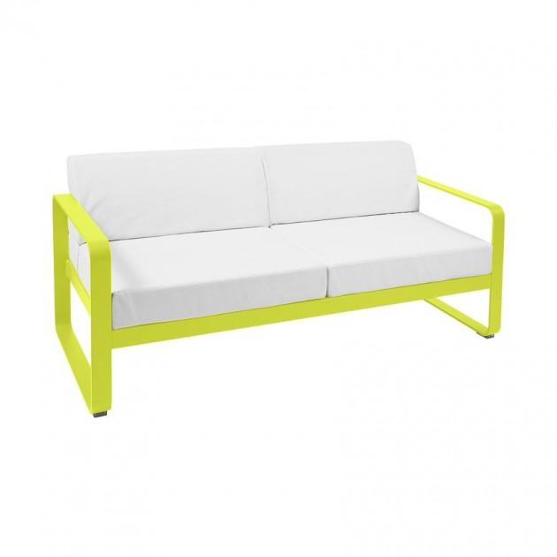 На фото: Диван Bellevie Verbena (84452981), Двомісний диван Bellevie з подушками Off-White Fermob, каталог, ціна