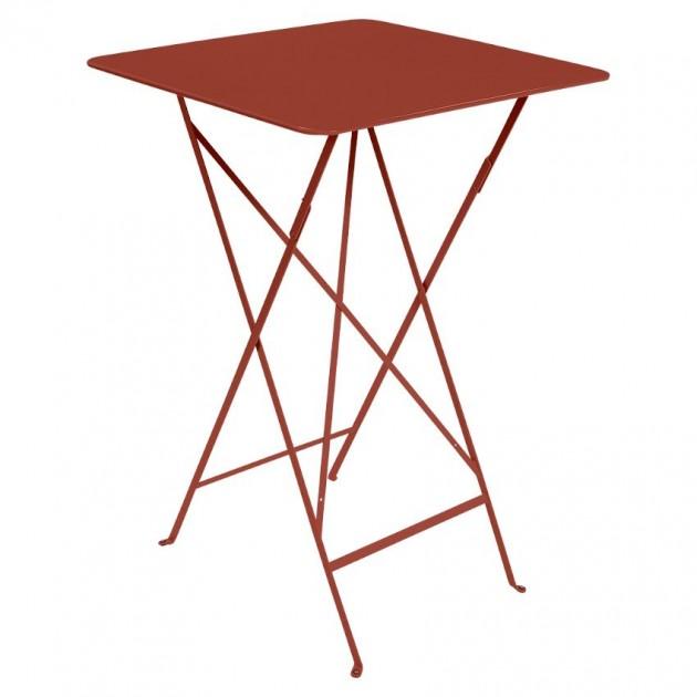 На фото: Барний стіл Bistro 0250 Red Ochre (025020), Барний стіл Bistro Fermob, каталог, ціна