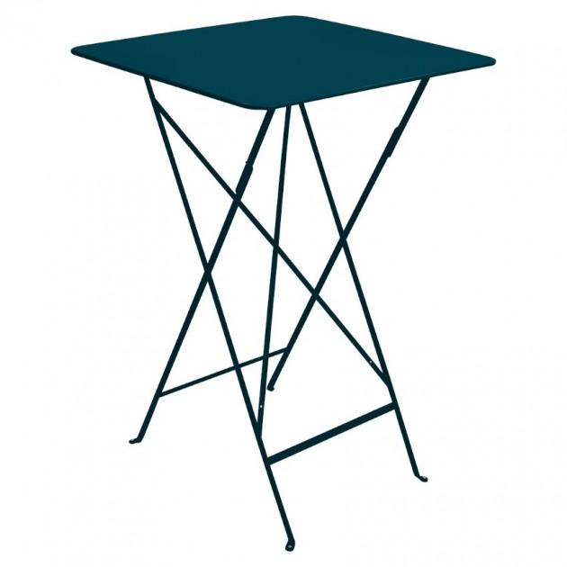 На фото: Барний стіл Bistro 0250 Acapulco Blue (025021), Барні столи Fermob, каталог, ціна