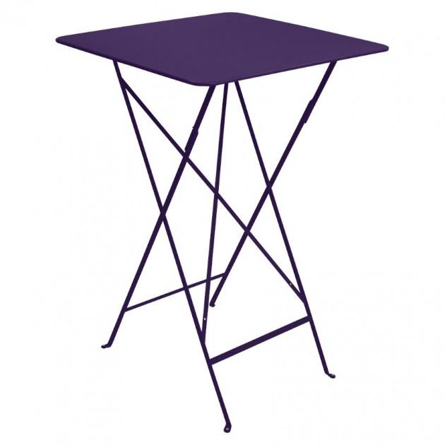 На фото: Барний стіл Bistro 0250 Aubergine (025028), Барні столи Fermob, каталог, ціна