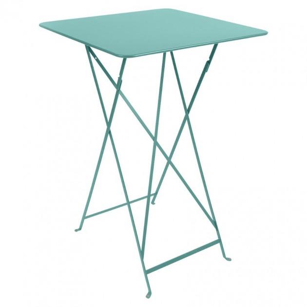 На фото: Барний стіл Bistro 0250 Lagoon Blue (025046), Барний стіл Bistro Fermob, каталог, ціна
