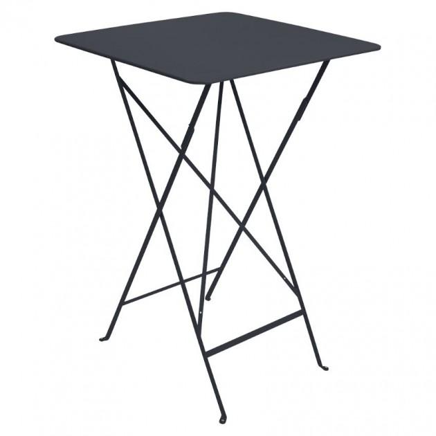На фото: Барний стіл Bistro 0250 Anthracite (025047), Барний стіл Bistro Fermob, каталог, ціна