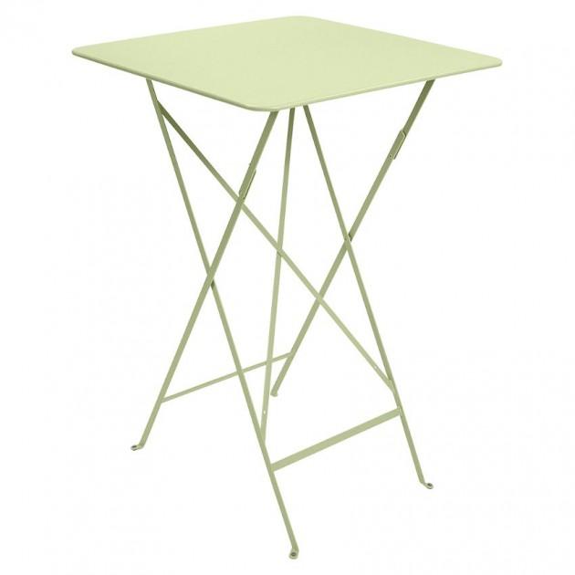 На фото: Барний стіл Bistro 0250 Willow Green (025065), Барний стіл Bistro Fermob, каталог, ціна